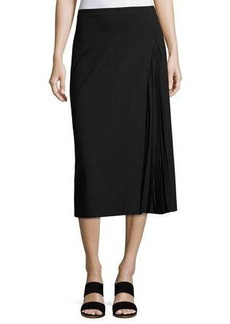 Lafayette 148 New York Pleated-Inset A-Line Skirt