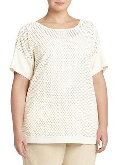 Lafayette 148 New York Plus Camira Open-Weave Top