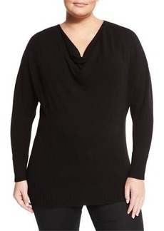 Lafayette 148 New York Plus Cashmere Cowl-Neck Dolman Sweater