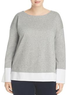 Lafayette 148 New York Plus Gabriel Layered Look Sweater