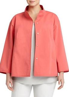 Lafayette 148 New York Plus McKenna Bracelet-Sleeve Topper Jacket