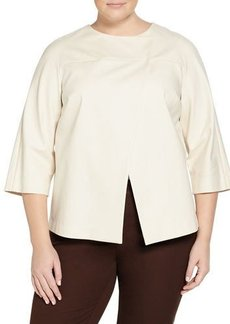 Lafayette 148 New York Plus Odene 3/4-Sleeve Topper