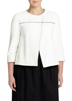 Lafayette 148 New York Plus Odene Lambskin Topper Jacket