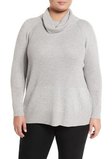 Lafayette 148 New York Paneled Rib-Knit Sweater