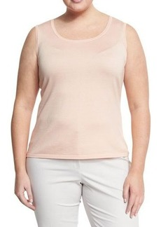Lafayette 148 New York Plus Scoop-Neck Fitted Top