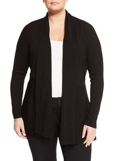 Lafayette 148 New York Plus Shawl-Collar Wool Cardigan