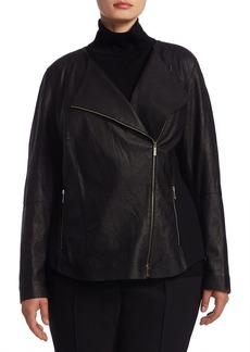 Lafayette 148 New York, Plus Size Aimes Leather Jacket