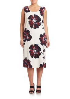 Lafayette 148 New York, Plus Size Bloom-Print Palmer Dress