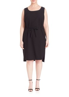 Lafayette 148 New York, Plus Size Dayton Sleeveless Tie-Waist Dress