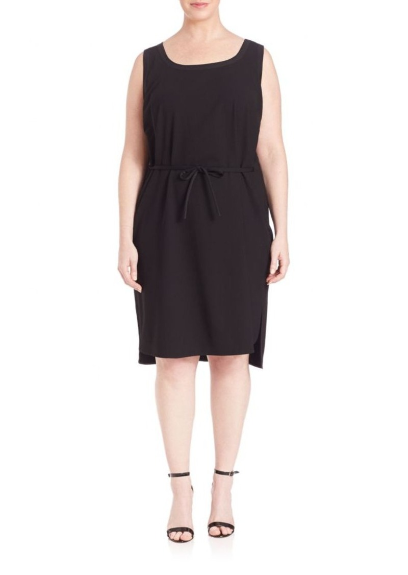 Lafayette 148 New York, Plus Size Dayton Sleeveless Tie-Waist Dress