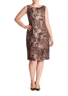 Lafayette 148 New York, Plus Size Faith Essex Jacquard Dress