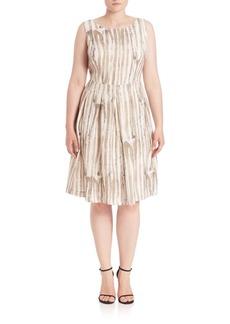 Lafayette 148 New York, Plus Size Madison Striped Zoe Dress