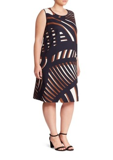 Lafayette 148 New York, Plus Size Palmer Printed Shift Dress