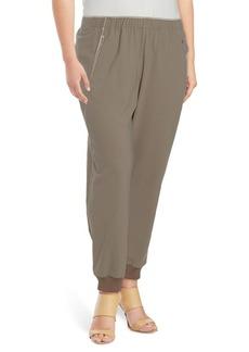 Lafayette 148 New York, Plus Size Rib Cuff Track Pants