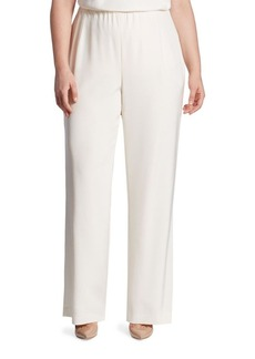 Lafayette 148 New York, Plus Size Studio Stretch-Silk Pants