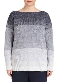 Lafayette 148 New York Plus Wool Degrade Ribbed Tunic