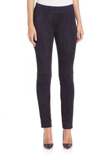 Lafayette 148 New York Ponte & Suede Skinny Pants