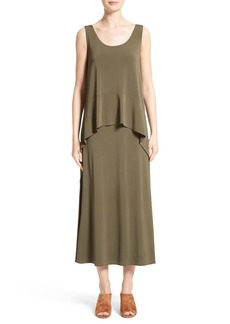 Lafayette 148 New York Jersey Popover Maxi Dress