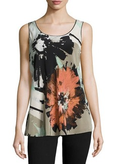 Lafayette 148 New York Portman Floral-Print Sleeveless Top