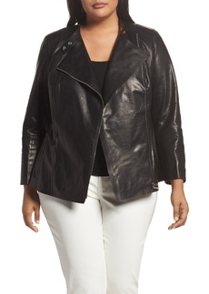 Lafayette 148 New York Presley Moto Leather Jacket (Plus Size)