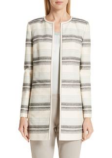 Lafayette 148 New York Pria Stripe Tweed Jacket