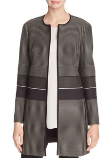 Lafayette 148 New York Pria Textured Open-Front Jacket