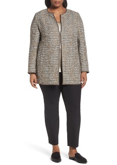 Lafayette 148 New York Pria Tweed Jacket (Plus Size)