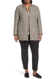 Lafayette 148 New York Pria Tweed Jacket (Plus Size)
