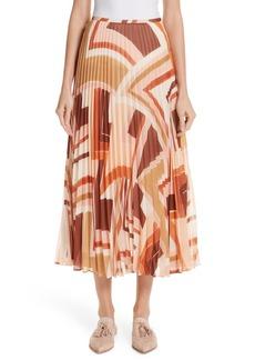 Lafayette 148 New York Print Midi Skirt