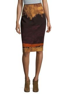 Lafayette 148 New York Printed Pencil Skirt