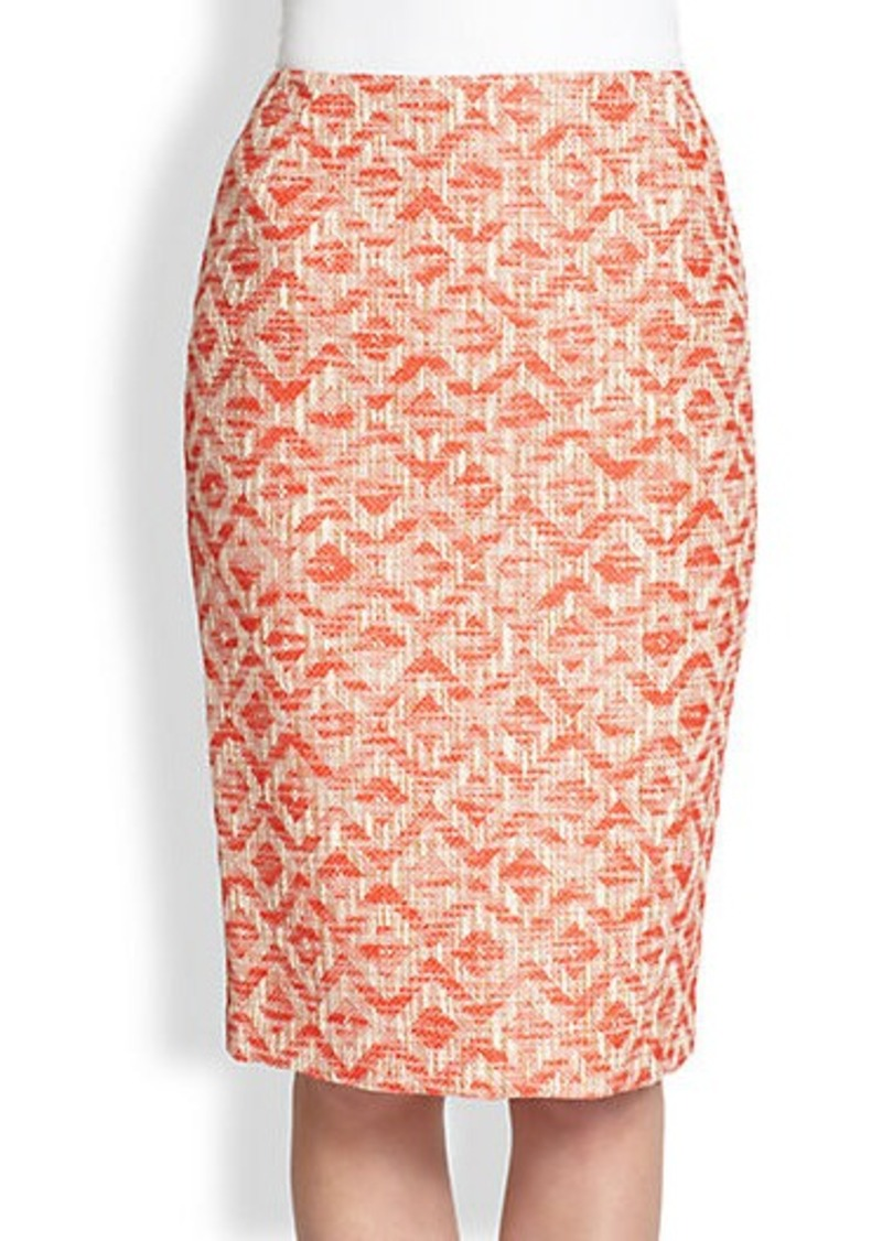 Lafayette 148 New York Printed Pencil Skirt