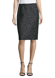 Lafayette 148 Revelin Textured Pencil Skirt