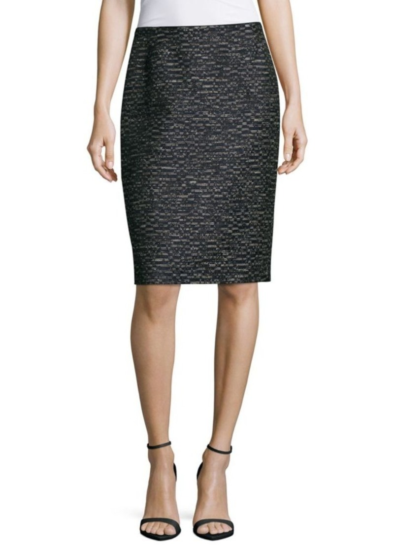 Lafayette 148 Revelin Textured Pencil Skirt