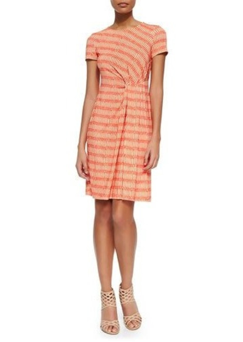 Lafayette 148 New York Printed Pleated Sheath Dress