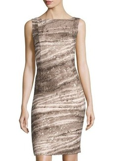 Lafayette 148 New York Printed Sleeveless Sheath Dress