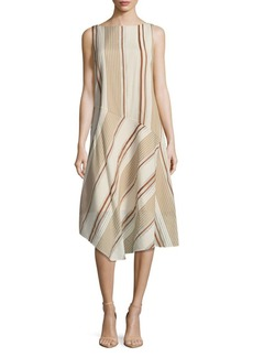 Lafayette 148 Printed Striped Dress