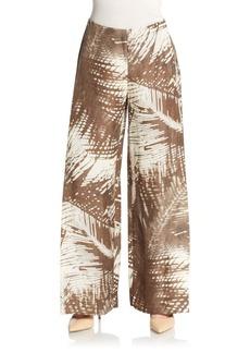 Lafayette 148 New York Printed Wide-Leg Trousers