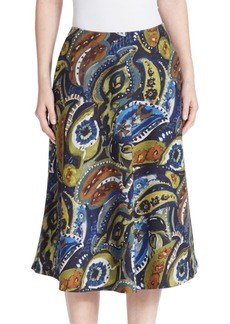 Lafayette 148 Printed Wool Blend Skirt