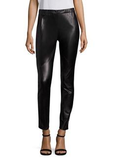 Lafayette 148 New York Punto Milano Astoria Leather Front Legging