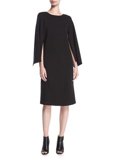 Lafayette 148 Punto Milano Split-Sleeve Shift Dress