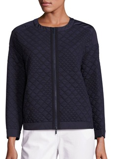 Lafayette 148 New York Quilted Zip-Front Jacket