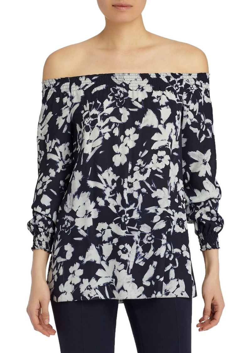Lafayette 148 New York Raelyn Augusto Impression Crepe Blouse