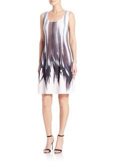 Lafayette 148 New York Raewyn Pleated Shadow-Print Dress