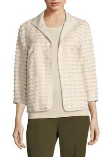 Lafayette 148 New York Ramira Fringe Knit Jacket