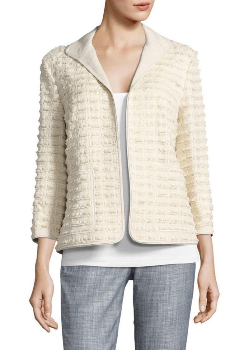 Lafayette 148 Ramira Fringe Knit Jacket