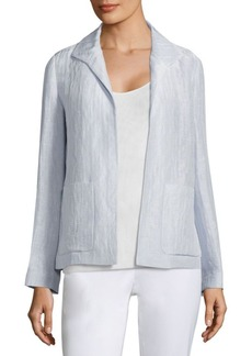 Lafayette 148 New York Ramira Linen And Silk Jacket