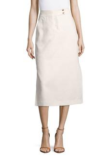 Lafayette 148 Ramona Solid Linen Skirt