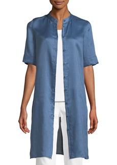 Lafayette 148 New York Randi Button-Front Gemma Cloth Tunic