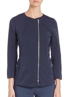 Lafayette 148 Rashida Zip-Front Jacket