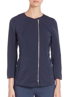 Lafayette 148 New York Rashida Zip-Front Jacket